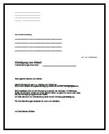 Kündigung Unfallversicherung Muster hier kostenlos downloaden