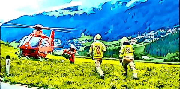 Wer zahlt Bergungskosten bei Unfall - Luftrettung