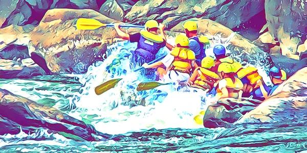Extremsportarten Liste im Wasser