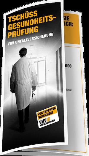 VHV Unfallversicherung ohne Gesundheitsfragen - Flyer Deckblatt